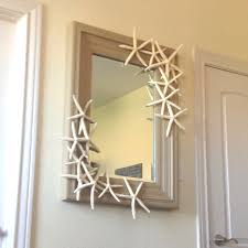 themed mirror diy themed mirror just hot glue starfish any way you want