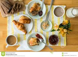 breakfast table breakfast table stock image image of croissant continental