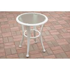 white patio side table dola outdoor patio wicker side table view in your room houzz