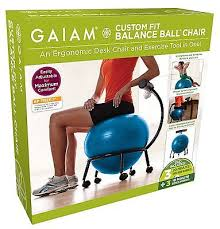 Office Chair Workout Ball Chair Workout Yoga Home Desk Seat Exercise Gaiam Office Furniture