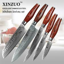 buy kitchen knives aliexpress buy 5 pcs kitchen knives set japanese vg10
