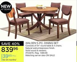 sears dining room sets sears walden 5 pc dining set redflagdeals com