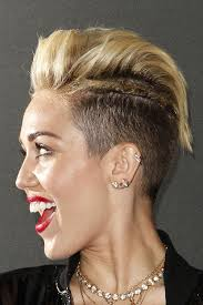 what is the name of miley cryus hair cut miley cyrus straight golden blonde pompadour twists two tone