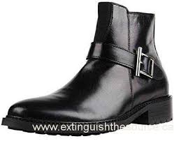 s leather dress boots canada serene s fashion buckle leather uppers casual ankle boots on