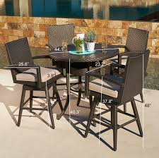 Bar Height Patio Dining Set - sidney 5pc bar height dining collection mission hills furniture