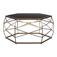 Asda Side Table Glass Top Geometric Coffee Table Furniture George