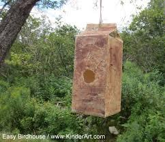 milk carton bird house lesson plan recycling for kids kinderart
