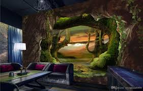 3d Wallpaper For Bedroom by Custom Modern Wallpaper Cave Stone Virgin Forest 3d Wallpaper
