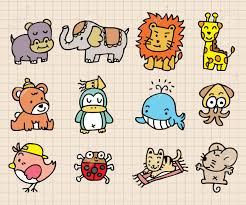 cute animal element hand draw icon royalty free cliparts vectors