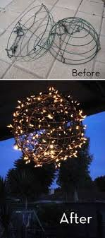 christmas hanging baskets with lights cute idea diy hanging flower basket chandelier 2 half round