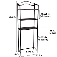 Household Essentials List Amazon Com Household Essentials 3 Tier Over The Toilet Storage