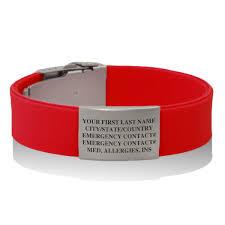 medical id bracelets for women premier silicone idmeband bracelet medical id bracelet