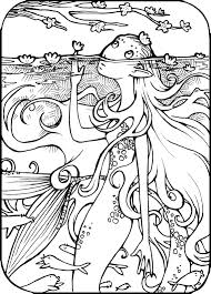 coloring mermaid coloring pictures
