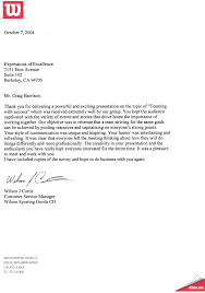 employee recognition letter template craig harrison s references from appreciative clients and partners wilson sporting goods read full letter