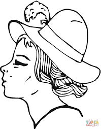 hat coloring pages free printable pictures