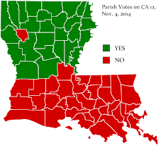 Louisiana On A Map by Submitted By Hormisdas