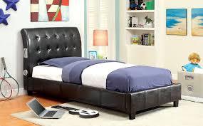 espresso twin bed espresso full size bed button tufted headboard w bluetooth speakers