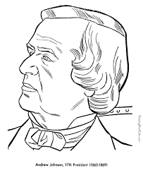 free printable coloring pages of us presidents free printable president andrew johnson coloring pages free items