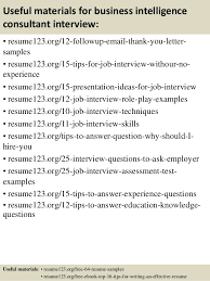 Business Consultant Resume Example by Top 8 Business Intelligence Consultant Resume Samples