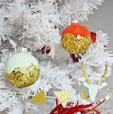 dipped glitter ornaments a joyful riot
