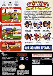 Backyard Baseball 2004 Download Backyard Baseball Gamecube Outdoor Goods