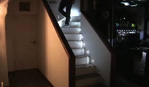 diy led stair lighting system gets video demo slashgear