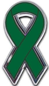 emerald green ribbon liver cancer ribbon chrome auto emblem awarenessdepot