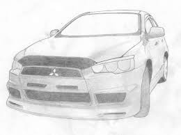 mitsubishi lancer drawing художник от слова
