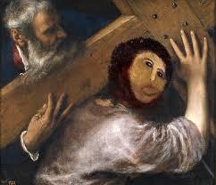 Monkey Jesus Meme - hilarious internet reactions to the botched ecce homo restoration