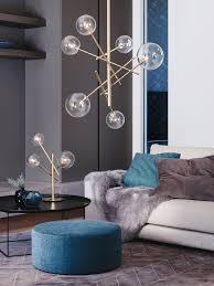 Modern Pendant Lights by Aksel 6 Light Pendant In Brass Clear Lighting Pinterest