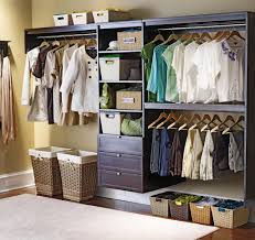 decorating awesome wood lowes closet systems in white with rattan