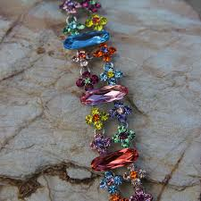 coloured crystal necklace images Swarovski crystal bracelet in multi coloured swarovski crystals jpg