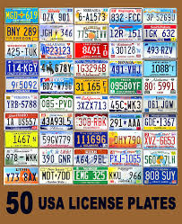 Usa License Plate Map by 50 Assorted Usa License Plates Color United States Tag Lot Set