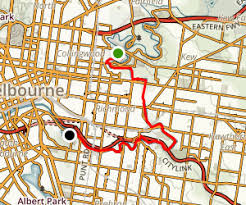 Royal Botanical Gardens Melbourne Map Yarra River From Abbotsford To Royal Botanic Gardens