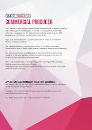 Victoria Jobs Resume by Commercial Producer Hamilton Vic Radioinfo Com Au