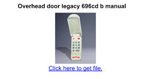 Legacy Overhead Door Legacy Garage Door Opener 696cd B Keypad Wageuzi