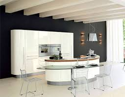 curved island kitchen designs