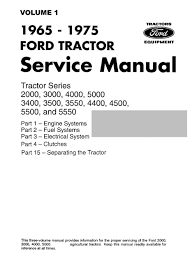 ford tractor series 2000 3000 4000 5000 3400 3500 3550 4400
