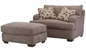 Oversized Loveseat With Ottoman Klaussner Vaughn Chair And A Half And Matching Ottoman With
