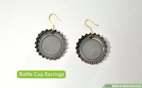 plastic bottle earrings 4 ways to make earrings wikihow