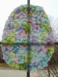 Easter Decorations With Tissue Paper by Tissue Paper Stained Glass Craft Laura Williams