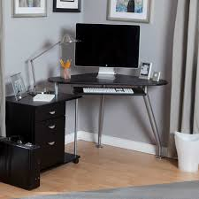 Tiny Corner Desk Small Computer Corner Desk With Black Rolling Swivel Chair Space