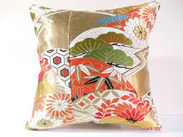 Japanese Silk Kimono Obi Pillow 044 Decorative Pillow 18x18