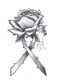 all cancer ribbons cancer ribbon rose design by ndc13 on