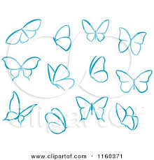simple butterfly drawing clipartxtras