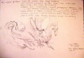 john howe dragon sketch by littlepinkninja on deviantart