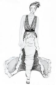 pencil fashion sketches fashion sketch of beautiful slim