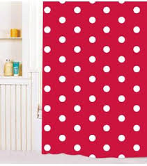 Red Polka Dot Curtains White Dot Red Pvc Shower Curtain Y2603 Wholesale Faucet E Commerce