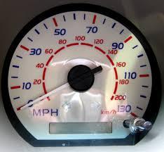 white speedo dial facia for toyota hilux mk6 vigo mph ebay