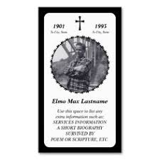 memorial card black business cards funeral business cards